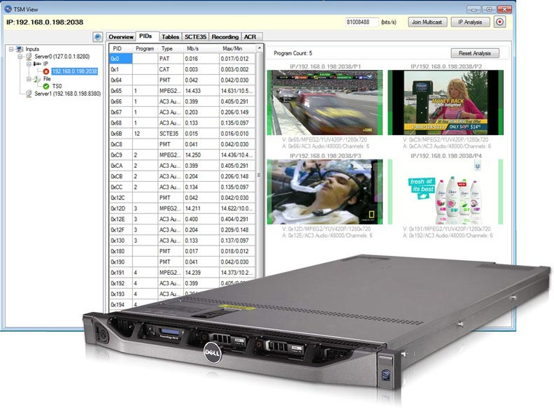 SCTE35 and Ad Insertion Monitoring System - SCM200