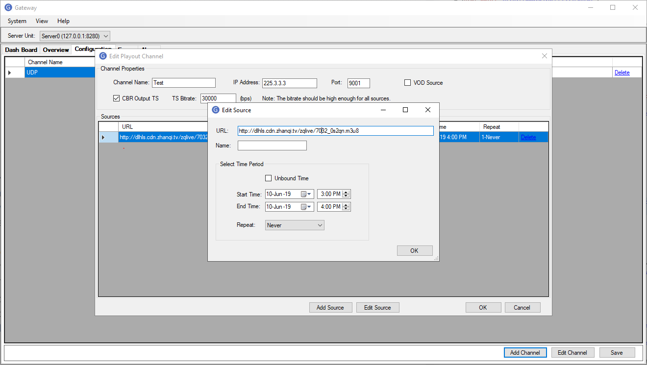 HLS and RTMP Streaming to UDP Stream Converter